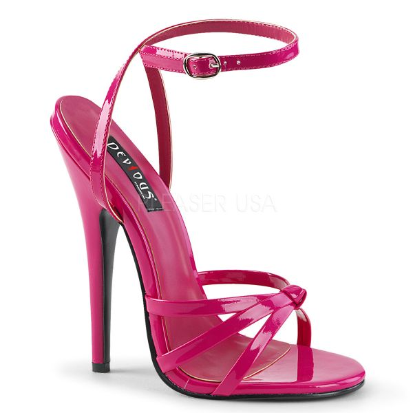 High-Heel Riemchen-Sandalette hot pink Lack DOMINA-108